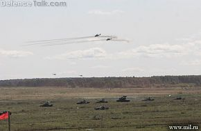 Tanks Advancing with Air Cover and Tunguska