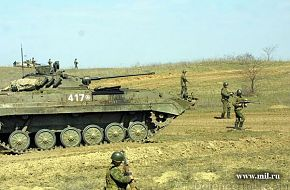 BMP-2 with infantry