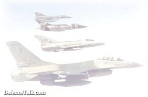 Rainbow and Mosaik of PAF Fighter aircraft.