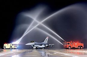 F-16 and the firetrucks.