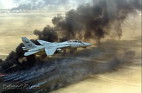 f14 over oil fields