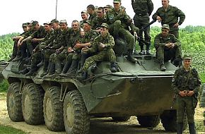 BTR-80 with troops