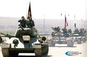 T-34 on parade