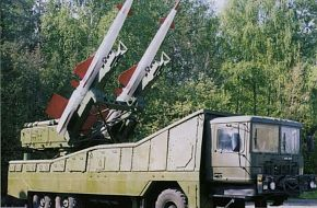 S-200 launch vehicle, with 5V27DE missiles