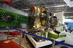 An aircraft engine of GE Aviation at Airshow China 2010