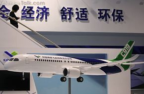 C919 passenger airliner at Airshow China