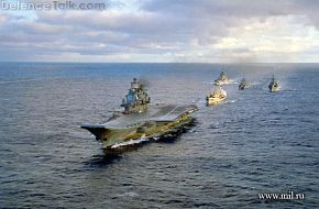 Kuznetsov with task force, in the Atlantic