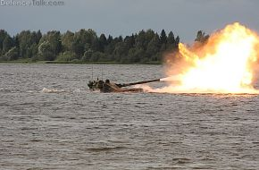 Sprut-SD firing from river
