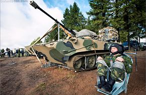 BMD-2 with paradrop gear