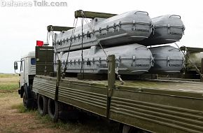 Buk-M1 missiles on transporter