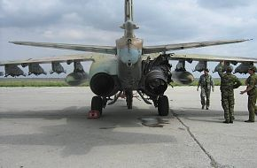 Su-25 damaged by MANPADS over Georgia
