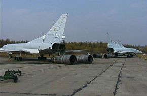 Tu-22M and engines, scrapyard