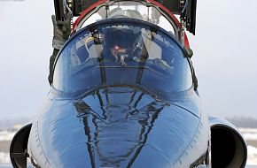 T-38 Talon pilots prepare for takeoff