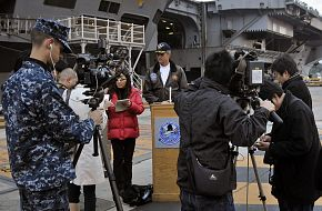 CVN 73- news conference with Japanese media