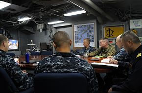 Senior leadership from the USN, Marines and the Japanese Maritime SDF