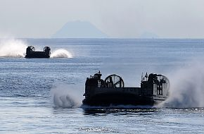 Japanese landing craft air cushion vehicles