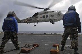 SH-60K Sea Hawk helicopter landing