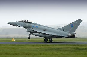 Eurofighter Typhoon Landing at RAF Leuchars
