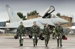 Eurofighter Typhoon at RAF Leuchars