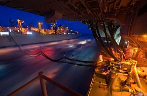 US Navy  underway replenishment  at sea(RAS)
