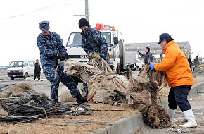 US Navy  Sailors assigned to Naval Air Facility Misawa