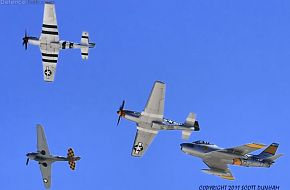 USAAC P-40 Warhawk P-51 Mustang & USAF F-86 Sabre Fighters