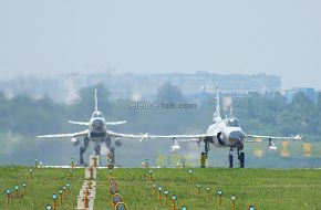 J-10 and JF-17 on Runway