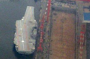 New Chinese PLAN Aircraft Carrier showing deck markings