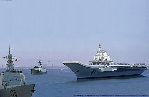 Artist conception of the new Chinese carrier battle group