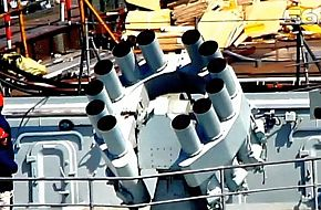 The new Chinese, PLAN Aircraft Carrier ASW Rocket launcher