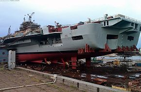 Indian Vikramaditya Aircraft carrier refitting