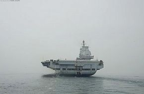 Chinese Carrier at Sea on Trials