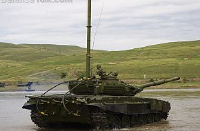 T-90A river crossing