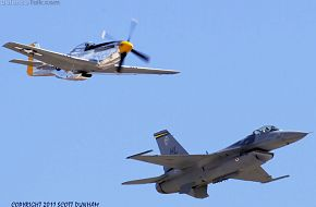 USAF Heritage Flight - F-16 & P-51