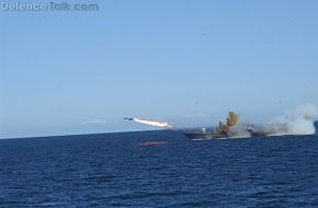 R-129 missile boat firing P-15 Termit