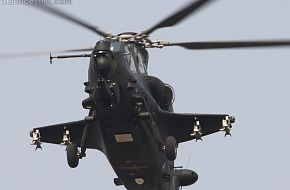 WZ10 Attack helicopter in end of 2011 4