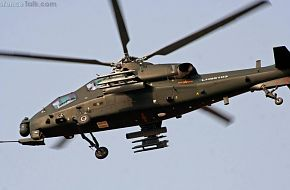 WZ10 Attack helicopter in end of 2011 3