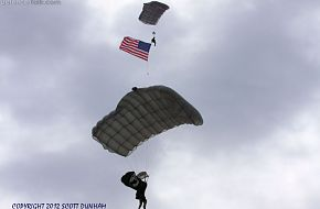 USAF Paratroopers Presenting Colors