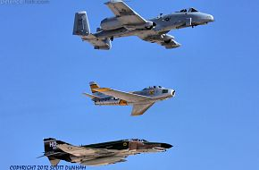 USAF Heritage Flight A-10 F-86 F-4