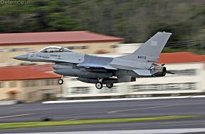 First Pakistan Air Force F-16A MLU