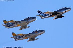 USAF F-86 Sabre - Horsemen Flight Demonstration Team