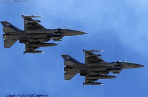 USAF F-16 Falcon Fighters