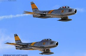 USAF F-86 Sabre Horsemen Flight Demonstration Team