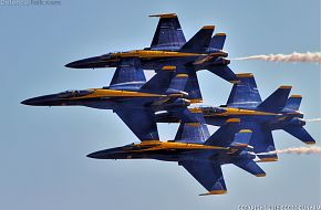 US Navy Blue Angels F/A-18 Hornet Fighters
