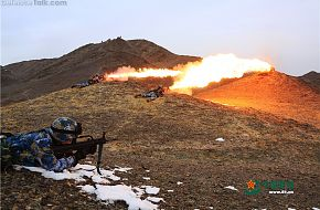 China Marine Corps conducts combined-arms live-fire drill in Gobi Desert