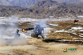 China Marines fire the man-portable anti-tank missile system