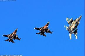 USAF F-15C Eagle & F-16 Viper Aggressor Fighters