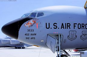 USAF KC-135R Stratotanker Transport and Refueling Aircraft Nose Art