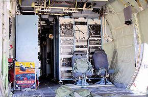USAF EC-130H Compass Call Electronic Warfare Aircraft Operator Compartment