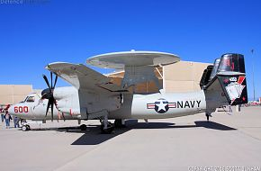 US Navy E-2C Hawkeye Airborne Early Warning Aircraft